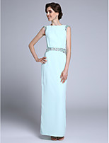 Lanting Bride Sheath / Column Mother of the Bride Dress Ankle-length Sleeveless Chiffon with Crystal Detailing