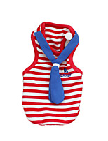 Gatti / Cani T-shirt Rosso / Blu Estate / Primavera/Autunno Nautico / Britsh Di tendenza, Dog Clothes / Dog Clothing-PetStyle