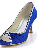 Women's Shoes Silk Stiletto Heel Heels / Peep Toe Heels Wedding / Party & Evening / Dress Blue / Yellow / Pink / Purple