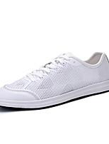 Sapatos Masculinos-Tênis-Preto / Branco-Tule-Ar-Livre / Casual / Para Esporte