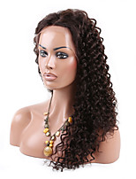 EVAWIGS 6A Grade  Brazilian Human Virgin  Hair Wig High Density Kinky Curly  Full Lace Wig