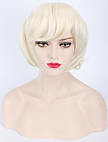 Europe And The United States Hot Style Animation Cos Silver Wig Cream-Colored Short Hair Wigs