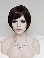Europe And The United States  With Dark Brown Mixture Color Hair Wig Ms BOBO 10 Inch