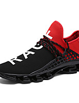 Unisex Sneakers Spring / Summer / Fall Ankle Strap Spandex Fabric Outdoor / Athletic / Casual Flat Heel Split JointBlack