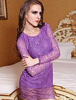 Women Gartered Lingerie / Lace Lingerie / Robes / Ultra Sexy Nightwear,Acrylic / Lace / Spandex