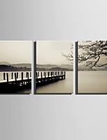 lienzo conjunto Paisaje Estilo europeo,Tres Paneles Lienzos Vertical lámina Decoración de pared