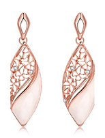 2016 New Noble Luxury Rose Gold  Czech Drill Drop Earring For Women