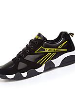 tallone piano scarpe da ginnastica di moda PU comfort scarpe da donna atletica / casuale blu / giallo / bianco e nero