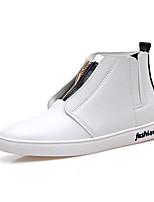 Men's Fashion Casual Shoes Medium-Height Microfiber Board Shoes