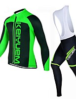 KEIYUEM®Others Winter Thermal Fleece Long Sleeve Cycling Jersey+Bib Tights Ropa Ciclismo Cycling Clothing Suits #W16