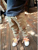 Boy's Casual/Daily Geometric Pants,Cotton Spring Black / Beige