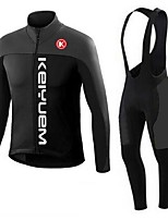 KEIYUEM® Winter Thermal fleece Long Sleeve Cycling Jersey+Long Bib Tights Ropa Ciclismo Cycling Clothing Suits #W51