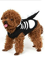 Cat / Dog Costume / Shirt / T-Shirt Black / White Summer / Spring/Fall Skulls Cosplay / Halloween, Dog Clothes