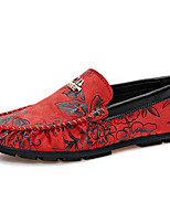 Men's Shoes Fleece Casual Loafers & Slip-Ons Casual Walking Flat Heel Others Blue / Yellow / Red