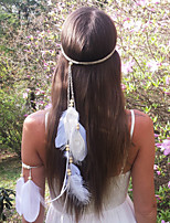 Women's Fashion Bohemia Feather Wooden Beads Headbands 1 Piece