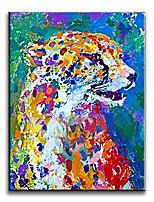 Peintures à l'huile Animal Modern / Classique / Traditionnel / Réalisme / Méditerranéen / Pastoral / Style européen / Style,Un Panneau