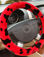 Fashion Milk Winter Plush Car Steering Wheel Covers Non-Slip Warm Handlebar Coverings
