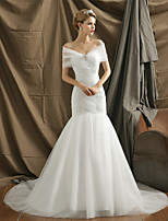 Fit & Flare Wedding Dress Court Train Sweetheart Tulle with Appliques