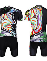 PaladinSport Men 's Cycyling Jersey + Shorts Bike Suits for The for The for Green DT633 Color The Zebra
