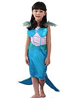 Costumes Déguisements de contes de fées / Mermaid Tail Halloween / Noël / Carnaval / Le Jour des enfants / Fête d'Octobre / Nouvel anBleu