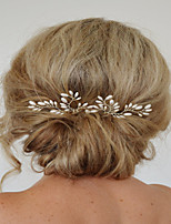 Dame Perle Lyserød / Krystal Medaljon-Bryllup / Speciel Lejlighed Hårnål / Hair Stick 2 Dele Hvid Anderledes 20