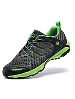 Herre-Lerret-Flat hæl-Rund tå-Sneakers-Friluft-Grå / Oransje / Mørkegrønn