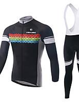 KEIYUEM Fahhrad/Radsport Kleidungs-Sets/Anzüge Unisex LangärmeligeAtmungsaktiv / Rasche Trocknung / tragbar / warm halten /