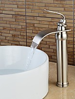 High Quality Nickel Brushed Waterfall Bathroom Sink Faucet -Sliver
