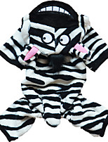 Cat / Dog Costume / Hoodie / Clothes/Jumpsuit Black / White Winter / Spring/Fall Animal Halloween, Dog Clothes