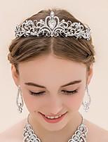 Mulheres Strass / Liga Capacete-Casamento Tiaras 1 Peça Prata Redonde 16