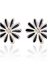 2016 Korean Women 925 Silver Sterling Silver Jewelry Acrylic Daisy Earrings Stud Earrings 1Pair