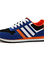 Men's Shoes Canvas Athletic Flats Athletic Sneaker Flat Heel Lace-up Black / Blue / Gray / Navy