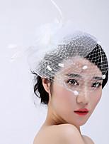 Vrouwen Veren / Tule / Vlechtwerk Helm-Bruiloft / Speciale gelegenheden / Informeel / Buiten Fascinators 1 Stuk
