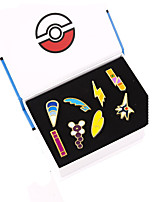 Pocket Little Monster Fashion Hall Road Badges Brooches Jewelry 8Pcs / Set