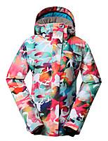 Gsou snow women powder camouflage ski jackets/snowboard/double snowboard jackets/windproof waterproof ski suit