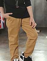 Boy's Casual/Daily Solid Pants,Cotton Summer / Spring Black / Brown