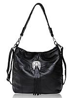 Women-Outdoor-PU-Shoulder Bag-Black