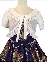 Sweet Lolita Blouse/Shirt Short Sleeve Short Length White / Black / Pink / Bisque Lolita Dress Terylene