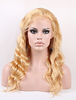 Fashion Style Unprocessed Human Hair Full Lace Wigs 27# Color Body Wave 130% Density