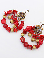 Women's European Style Fashion Vintage Bohemian Ethnic Beaded Drop Earrings
