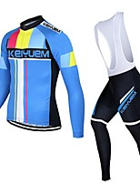 KEIYUEM®Others Winter Thermal Fleece Long Sleeve Cycling Jersey+Bib Tights Ropa Ciclismo Cycling Clothing Suits #w10