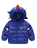 Girl's Casual/Daily Color Block Down & Cotton Padded,Cotton / Polyester Winter / Fall Black / Blue / Red / Yellow
