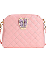 Women PU Casual Shoulder Bag White / Pink / Black