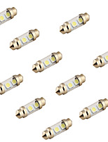YouOKLight® 10PCS Festoon 36mm 2W 100lm  3-SMD5050 6000K  White Light LED Car Reading Lamp (12V)