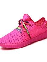 Løp Dame-Tyll-Flat hæl-Komfort-Sneakers-Friluft / Fritid / Sport-Svart / Rosa / Hvit