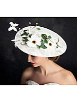 Women's Lace / Flax Headpiece-Special Occasion Fascinators 1 Piece Clear Irregular 25