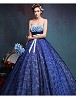 Formal Evening Dress Ball Gown Sweetheart Floor-length Lace with Bow(s)