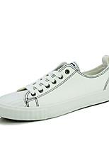 Da donna-Sneakers-Casual-Comoda-Piatto-Di corda-Nero / Bianco