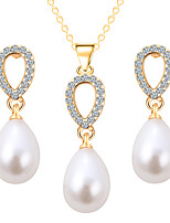 Snow Pearl Water Droplets Shape Jewelry Sets