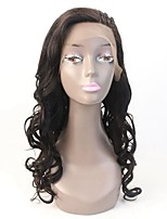 Brazilian 100% Human Hair Wavy lace Wig with Small Braids 130% Density